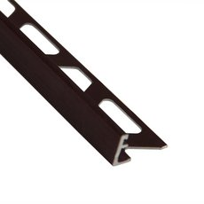 Schluter-Jolly Edge Trim 1/2in. in Brushed Antique Bronze Anodized Aluminum