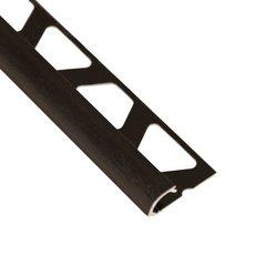 Schluter-Rondec Bullnose Edge Trim 3/8in. in Brushed Black Anodized Aluminum