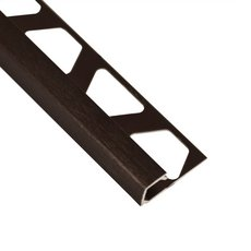 Schluter-Quadec Square Edge Trim 3/8in. in Brushed Antique Bronze Anodized Aluminum