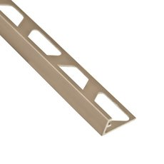 Schluter-Jolly Edge Trim 3/8in. in Satin Nickel Anodized Aluminum