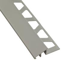 Schluter Reno-TK Satin Anodized Aluminum 1/2 in. x 8 ft. 2-1/2 in. Metal Reducer Tile Edging Trim