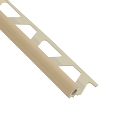 Schluter-Rondec Bullnose Edge Trim 5/16in. in PVC with a Sand Pebble finish