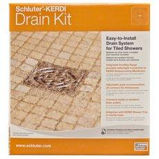 Schluter Kerdi-Drain 4in. x 4in. PVC Drain Kit in Oil Rubbed Bronze Stainless Steel