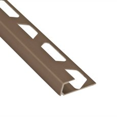 Schluter-Quadec Square Edge Trim 3/8in. in Satin Nickel Anodized Aluminum