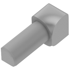 Schluter RONDEC Classic Gray 1/4in. Coated PVC 90 Degree Inside Corner