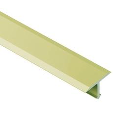 Schluter Reno-T Satin Brass 17/32in. Metal Anodized Aluminum 8ft. 2-1/2in. Tile Edging Trim