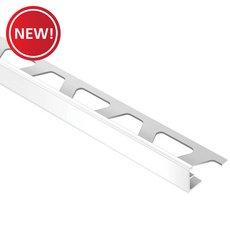 New! Schluter Jolly Edge Trim 1/4in. Aluminum Bright White