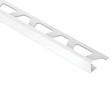 Schluter JOLLY Light Gray 1/2in. Coated Aluminum 8ft. 2-1/2in. Metal Tile Edging Trim