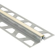 Schluter Dilex-Akws 5/16in. Aluminum w/ 1/4in. Joint Sand Pebble