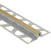 Schluter Dilex-Akws 11/32in. Aluminum w/ 1/4in. Joint Light Beige