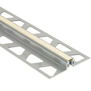 Schluter Dilex-Akws 3/8in. Aluminum w/ 1/4in. Joint Sand Pebble