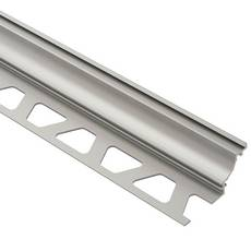 Schluter Dilex-Ahk Cove Base 1/2in. Aluminum Satin Nickel