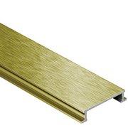 Schluter Designline 1in. Border Trim 1/4in. Aluminum Brush Brass