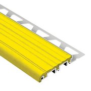 Schluter Trep-B 3/8in. Aluminum 2-1/8in. Tread Yellow 4ft. 11in.
