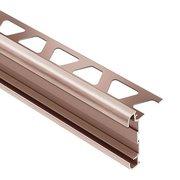 Schluter Rondec-Ct Counter Trim 1/2in. Aluminum Brush Copper