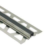 Schluter Dilex-Ksn 5/8in. Stainless Steel w/ 7/16in. Joint Black