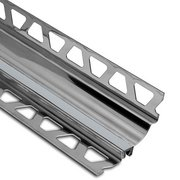 Schluter Dilex-Hks Cove 1/2in. X 11/32in. Stainless Steel / Classic Grey