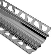 Schluter Dilex-Hks Cove 13/16in. X 11/32in. Stainless Steel / Gray