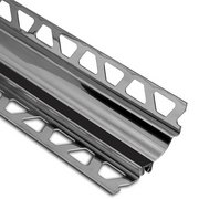 Schluter Dilex-Hks Cove 1in. X 9/32in. Stainless Steel / Black