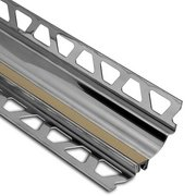 Schluter Dilex-Hks Cove 1-3/16in. X 11/32in. Stainless Steel / Light Beige