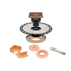 Schluter Kerdi-Drain RES Adapt Kit ABS 4in. Grate Copper