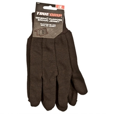 True Grip General Purpose Brown Jersey Gloves